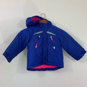 Carter's Blue Baby  Girl 24M Puffer Hoodie Jacket